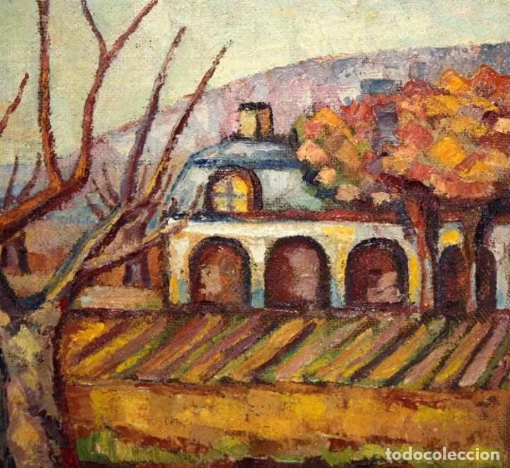 Arte: FIRMADO LLORENS. OLEO SOBRE TELA DE APROXIMADAMENTE 1940. ESCENA RURAL - Foto 3 - 219249773