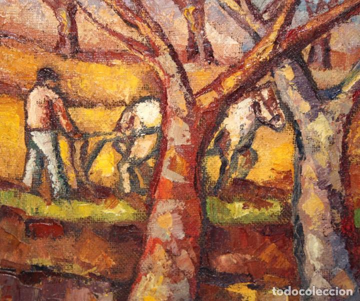 Arte: FIRMADO LLORENS. OLEO SOBRE TELA DE APROXIMADAMENTE 1940. ESCENA RURAL - Foto 5 - 219249773