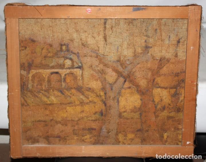 Arte: FIRMADO LLORENS. OLEO SOBRE TELA DE APROXIMADAMENTE 1940. ESCENA RURAL - Foto 7 - 219249773
