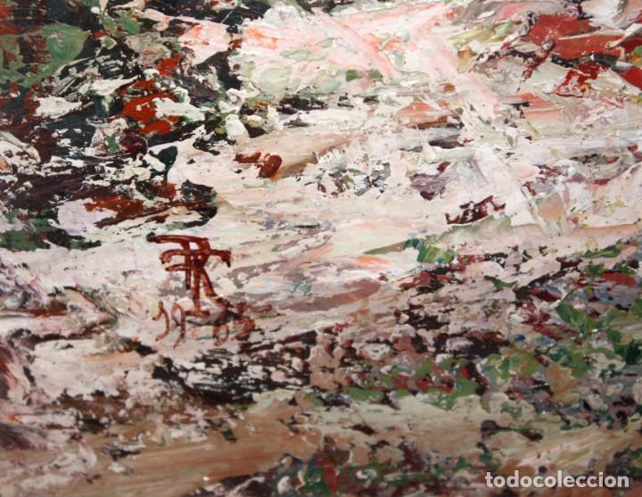Arte: JOSEP TUR ROIG (MATARÓ, BARCELONA, 1931) OLEO SOBRE TABLEX. CALLE DE PUEBLO - Foto 7 - 219254125