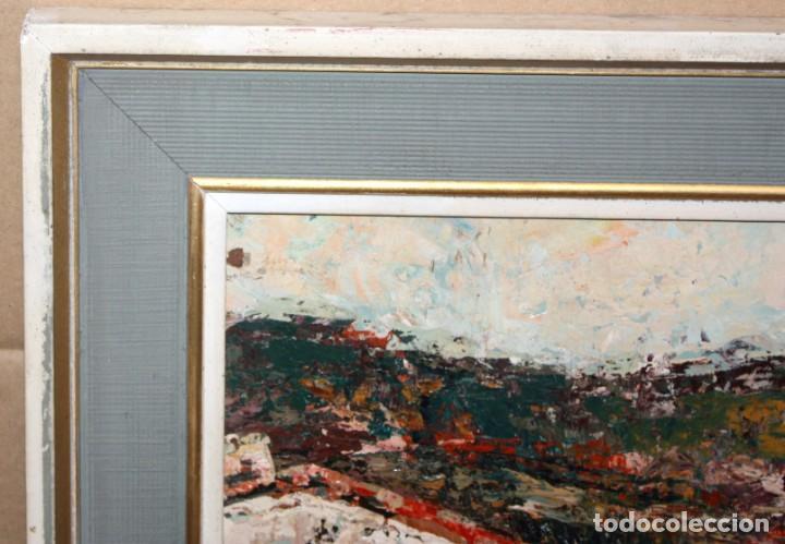 Arte: JOSEP TUR ROIG (MATARÓ, BARCELONA, 1931) OLEO SOBRE TABLEX. CALLE DE PUEBLO - Foto 8 - 219254125