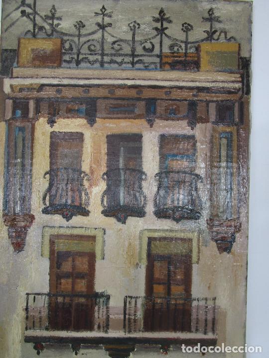 Arte: Joan Clapera Mayà (Olot 1929 - 2018) - Balcons de Cal Ferrer, Olot 1966 - Foto 5 - 219392108