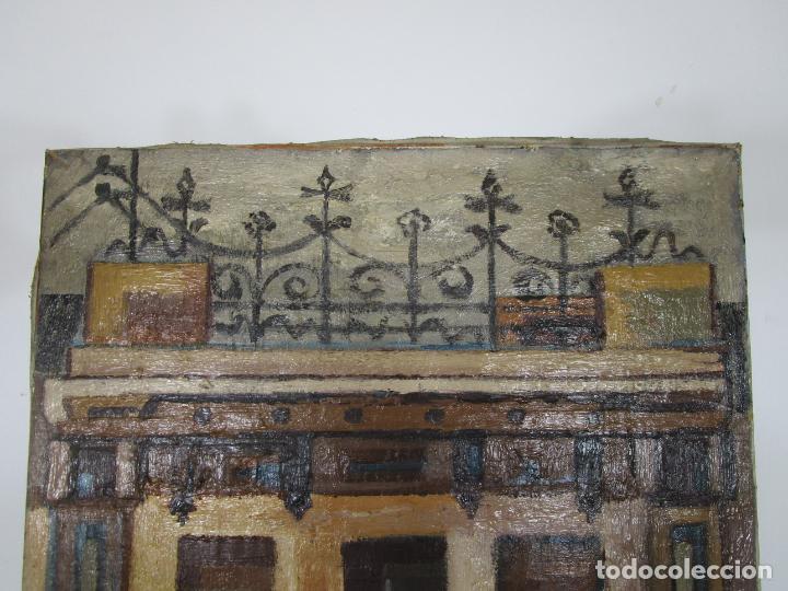 Arte: Joan Clapera Mayà (Olot 1929 - 2018) - Balcons de Cal Ferrer, Olot 1966 - Foto 7 - 219392108