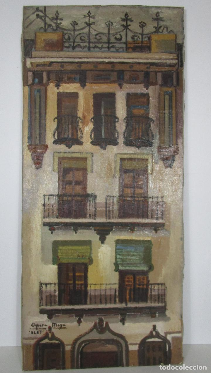 Arte: Joan Clapera Mayà (Olot 1929 - 2018) - Balcons de Cal Ferrer, Olot 1966 - Foto 8 - 219392108