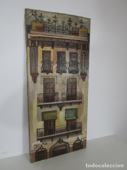 Arte: Joan Clapera Mayà (Olot 1929 - 2018) - Balcons de Cal Ferrer, Olot 1966 - Foto 11 - 219392108