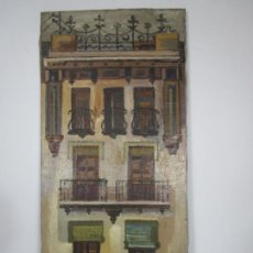 Arte: JOAN CLAPERA MAYÀ (OLOT 1929 - 2018) - BALCONS DE CAL FERRER, OLOT 1966. Lote 219392108