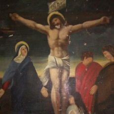 Arte: ANTIGUA PINTURA RELIGIOSA OLEO SOBRE LIENZO SIGLO XIX,GRAN TAMAÑO. Lote 219411307
