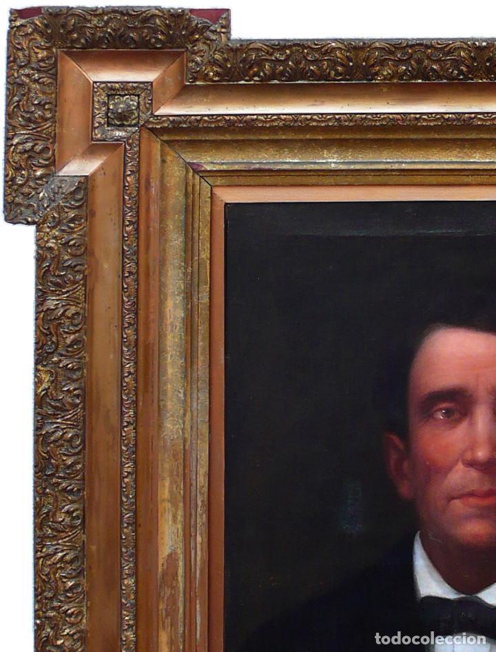 Arte: FRANCISCO PRATS Y VELASCO PORTRAIT HOMME MAN RETRATO OLEO HOMBRE JOVEN XIX ESCUELA ESPAÑOLA INDIANO - Foto 3 - 219582807