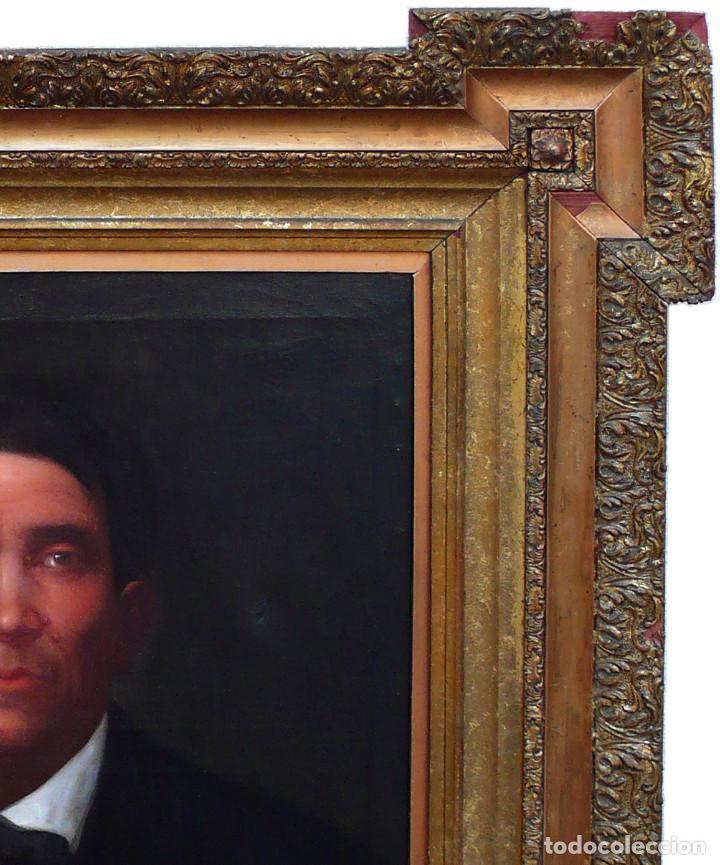 Arte: FRANCISCO PRATS Y VELASCO PORTRAIT HOMME MAN RETRATO OLEO HOMBRE JOVEN XIX ESCUELA ESPAÑOLA INDIANO - Foto 4 - 219582807