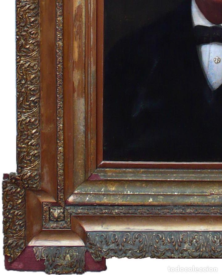 Arte: FRANCISCO PRATS Y VELASCO PORTRAIT HOMME MAN RETRATO OLEO HOMBRE JOVEN XIX ESCUELA ESPAÑOLA INDIANO - Foto 5 - 219582807