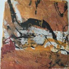 """Arte: """"MENSAJES DEL PASADO"""". OBRA ORIGINAL DE MARIO TORINO. PINTURA ABSTRACTA EXPRESIONISTA.. Lote 219606881"""