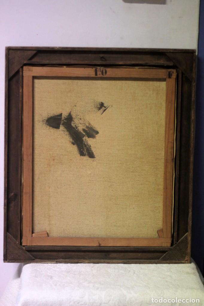 Arte: Óleo sobre lienzo antiguo, retrato señora de gran calidad. Firmado. 66x58cm - Foto 8 - 191910231
