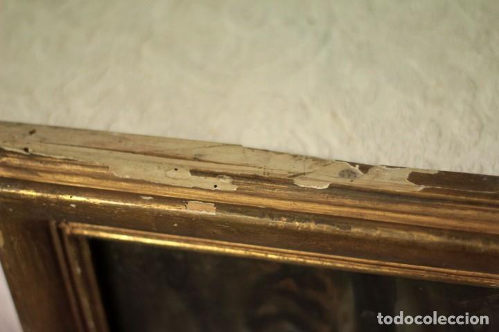Arte: Óleo sobre lienzo antiguo, retrato señora de gran calidad. Firmado. 66x58cm - Foto 11 - 191910231