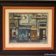 Arte: PINTURA AL OLEO, FIRMA ILEGIBLE. S.XX, UNA CALLE DE PARIS. ENMARCADO. 41X36CM. Lote 219622316