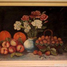 Arte: TOMÁS GARCIA SAMPEDRO(1860-1937) ATRIBUIDO A - BODEGÓN DE FRUTAS Y FLORES. Lote 219697541