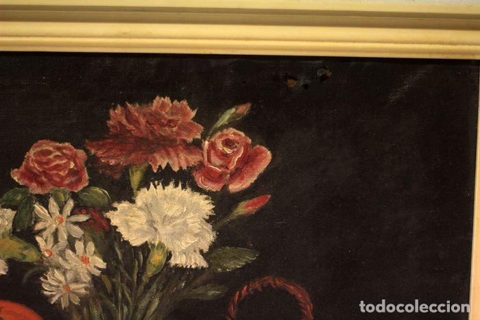 Arte: Tomás Garcia Sampedro(1860-1937) atribuido a - Bodegón de frutas y flores - Foto 5 - 219697541
