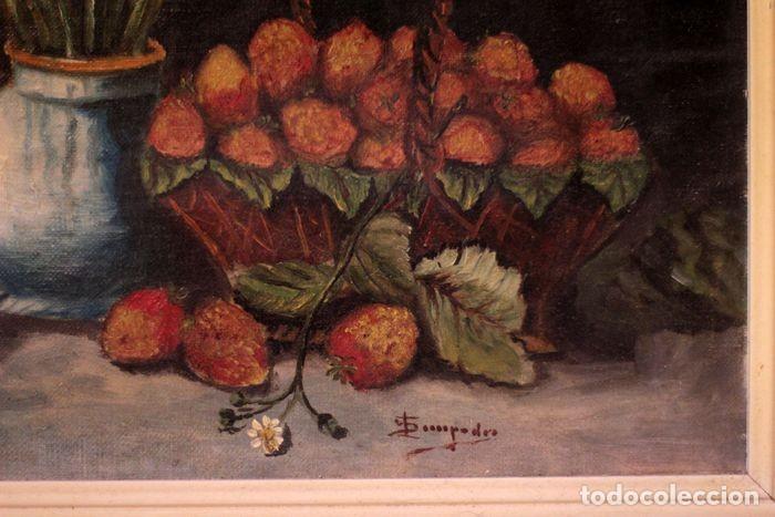 Arte: Tomás Garcia Sampedro(1860-1937) atribuido a - Bodegón de frutas y flores - Foto 7 - 219697541