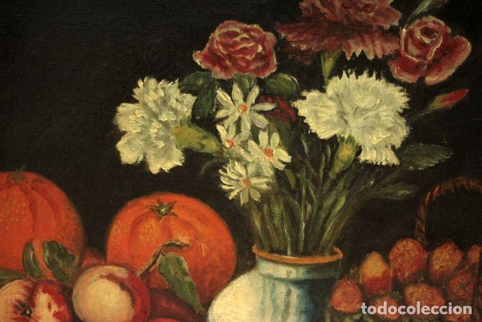 Arte: Tomás Garcia Sampedro(1860-1937) atribuido a - Bodegón de frutas y flores - Foto 8 - 219697541