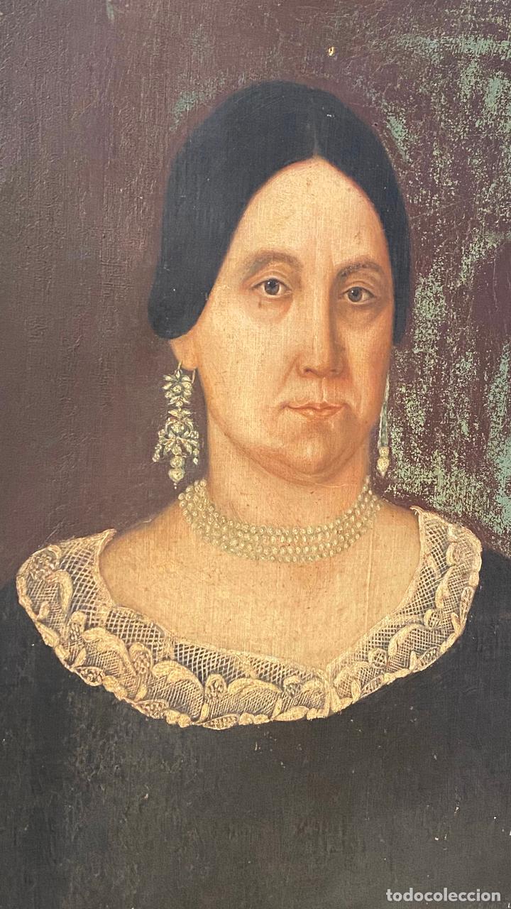 Arte: Gran retrato de una señora año 1849 firmado M. Borja - Foto 3 - 219761130