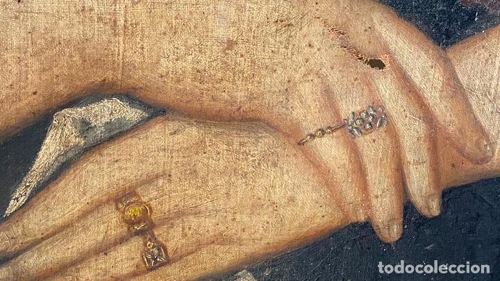 Arte: Gran retrato de una señora año 1849 firmado M. Borja - Foto 5 - 219761130