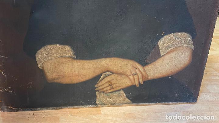 Arte: Gran retrato de una señora año 1849 firmado M. Borja - Foto 4 - 219761130