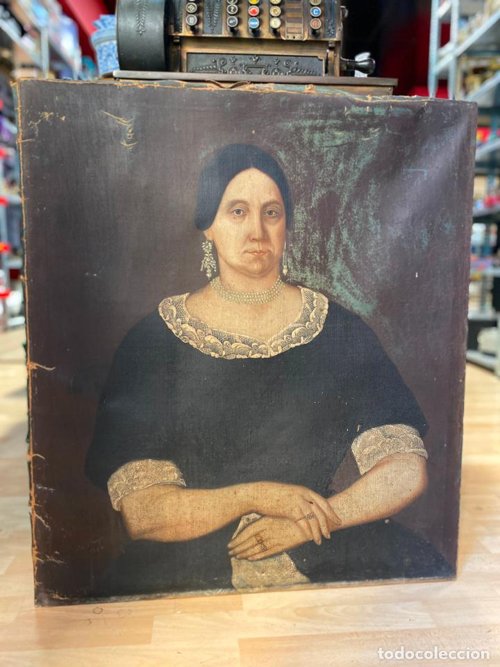 GRAN RETRATO DE UNA SEÑORA AÑO 1849 FIRMADO M. BORJA (Arte - Pintura - Pintura al Óleo Moderna siglo XIX)