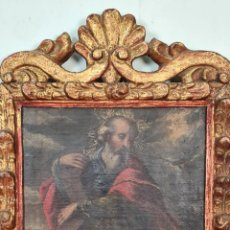 Arte: SANTO CON CRUZ. ÓLEO SOBRE LIENZO. ANONIMO. ESCUELA POTOSINA. SIGLO XVIII.. Lote 220193753