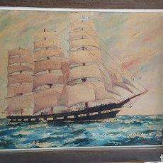 Arte: CUADRO PINTOR BARROSO, AÑO 1964.. Lote 220554547