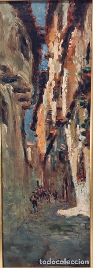 Arte: Constantino Gómez i Salvador.Óleo sobre tabla 40x14cm sin marco .1865-1937 Valencia - Foto 9 - 220595746