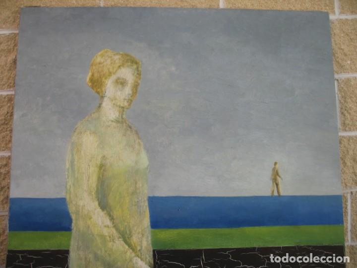 OLEO SOBRE LIENZO PASEANDO POR M.CALVET (Arte - Pintura - Pintura al Óleo Contemporánea )