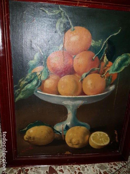 PRECIOSA PAREJA DE BODEGONES OLEO SOBRE LIENZO APARRILLA FIRMADO AÑOS 1930-1940 ENMARCADOS (Arte - Pintura - Pintura al Óleo Antigua sin fecha definida)