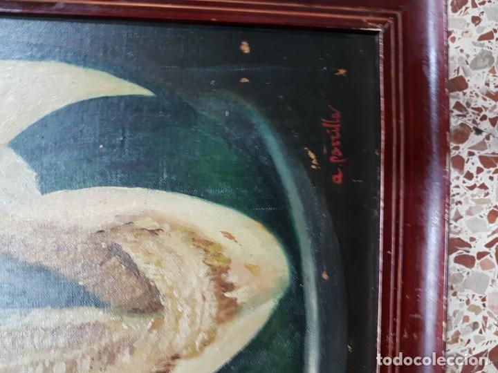 Arte: PRECIOSA PAREJA DE BODEGONES OLEO SOBRE LIENZO APARRILLA FIRMADO AÑOS 1930-1940 ENMARCADOS - Foto 6 - 220611722
