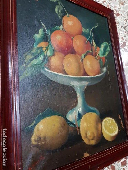 Arte: PRECIOSA PAREJA DE BODEGONES OLEO SOBRE LIENZO APARRILLA FIRMADO AÑOS 1930-1940 ENMARCADOS - Foto 10 - 220611722
