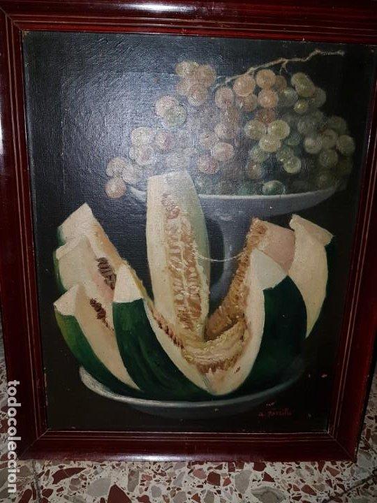 Arte: PRECIOSA PAREJA DE BODEGONES OLEO SOBRE LIENZO APARRILLA FIRMADO AÑOS 1930-1940 ENMARCADOS - Foto 11 - 220611722