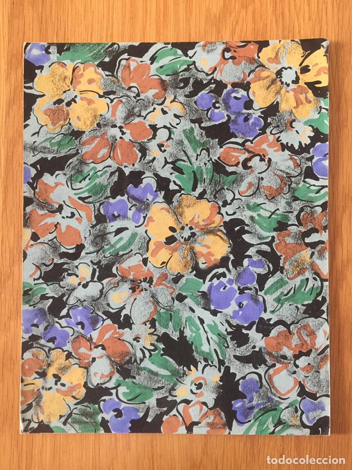 TERESA FONT GÜELL, DIBUJO FLORES PARA DISEÑO TEXTIL, GOUACHE SOBRE PAPEL, CON SELLO. 33X26CM (Arte - Pintura - Pintura al Óleo Contemporánea )