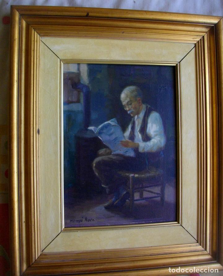 ALFREDO MOMPO ROCA 1935- 2018 XATIVA ( OLEO SOBRE LIENZO ) 53 X 44 CTMS CON MARCO (Arte - Pintura - Pintura al Óleo Contemporánea )