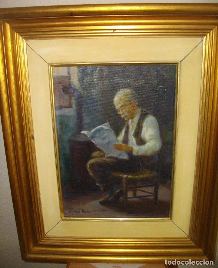 Arte: ALFREDO MOMPO ROCA 1935- 2018 XATIVA ( OLEO SOBRE LIENZO ) 53 X 44 CTMS CON MARCO - Foto 2 - 220662282