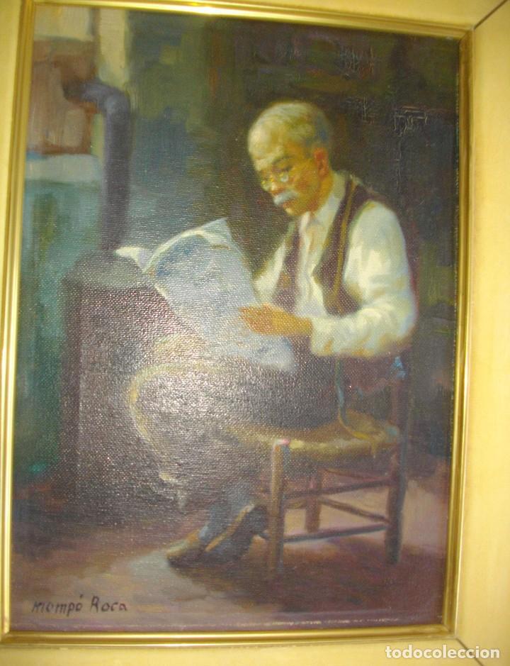 Arte: ALFREDO MOMPO ROCA 1935- 2018 XATIVA ( OLEO SOBRE LIENZO ) 53 X 44 CTMS CON MARCO - Foto 5 - 220662282