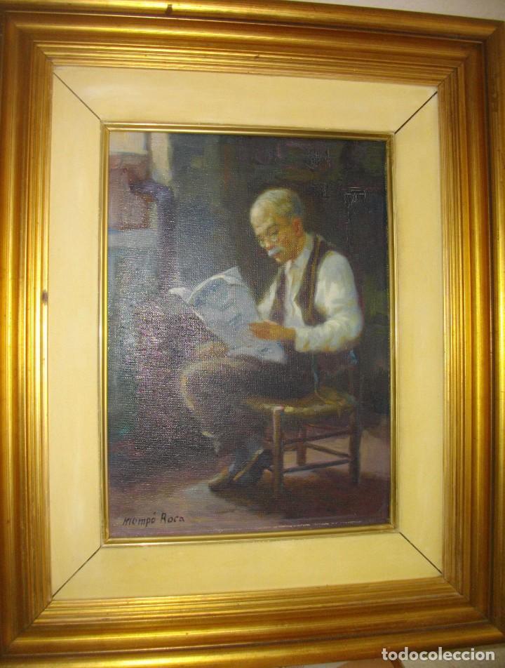 Arte: ALFREDO MOMPO ROCA 1935- 2018 XATIVA ( OLEO SOBRE LIENZO ) 53 X 44 CTMS CON MARCO - Foto 6 - 220662282