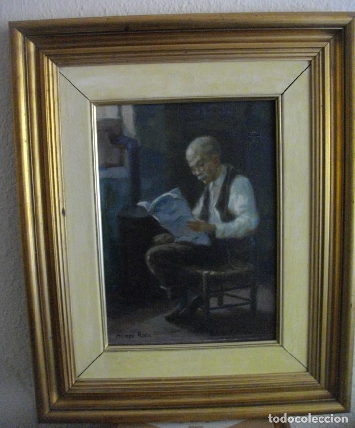 Arte: ALFREDO MOMPO ROCA 1935- 2018 XATIVA ( OLEO SOBRE LIENZO ) 53 X 44 CTMS CON MARCO - Foto 7 - 220662282
