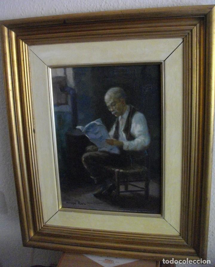 Arte: ALFREDO MOMPO ROCA 1935- 2018 XATIVA ( OLEO SOBRE LIENZO ) 53 X 44 CTMS CON MARCO - Foto 8 - 220662282