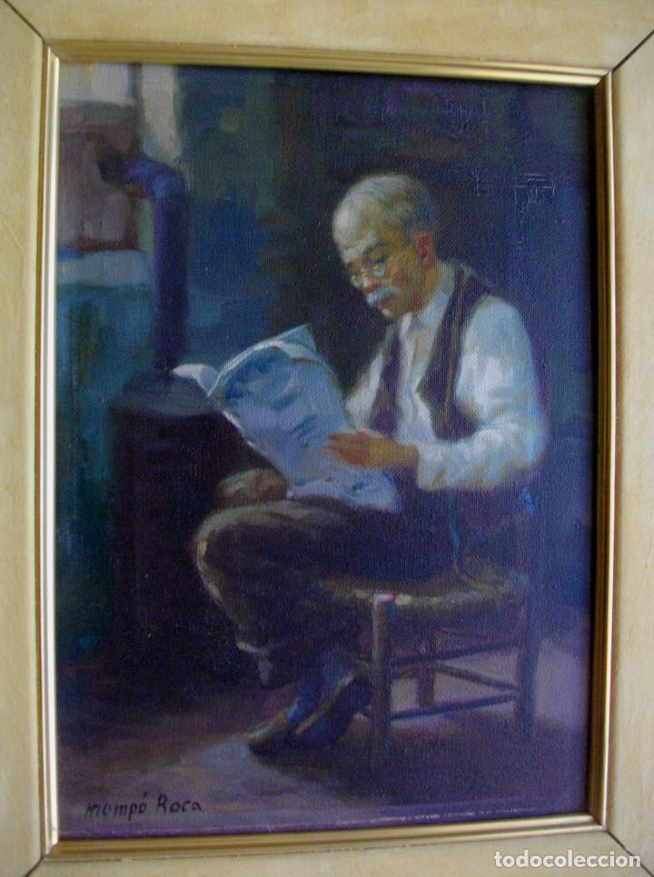 Arte: ALFREDO MOMPO ROCA 1935- 2018 XATIVA ( OLEO SOBRE LIENZO ) 53 X 44 CTMS CON MARCO - Foto 10 - 220662282