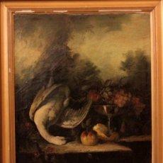 Arte: ESPECTACULAR BODEGÓN, NATURALEZA MUERTA, ESCUELA HOLANDESA S.XVIII-XIX ENMARCADO. 82X101XM. Lote 192067315