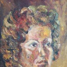 Arte: CARME BOSCH AGUSTI (GIRONA 1939) OLEO SOBRE TELA RETRATO. Lote 220669112