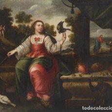 Arte: OBRADOR DE (TALLER) ARELLANO DE SERIE DE LOS SENTIDOS ( EL TACTO) SIGLO XVII MADRID H. 1670-1676. Lote 220104086