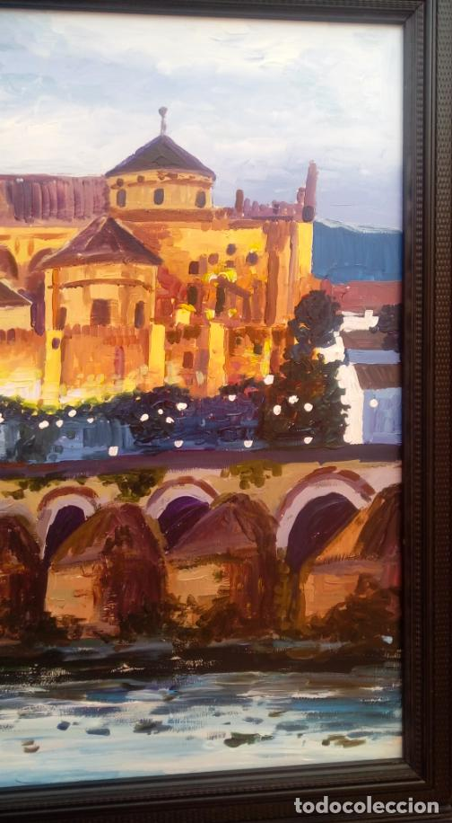 Arte: ÓLEO S/TABLA DE JOSÉ CAMERO HERNÁNDEZ,ENMARCADO. TÍTULO.- NOCTURNO MEZQUITA CÓRDOBA. 94X74 CMS - Foto 7 - 77541773