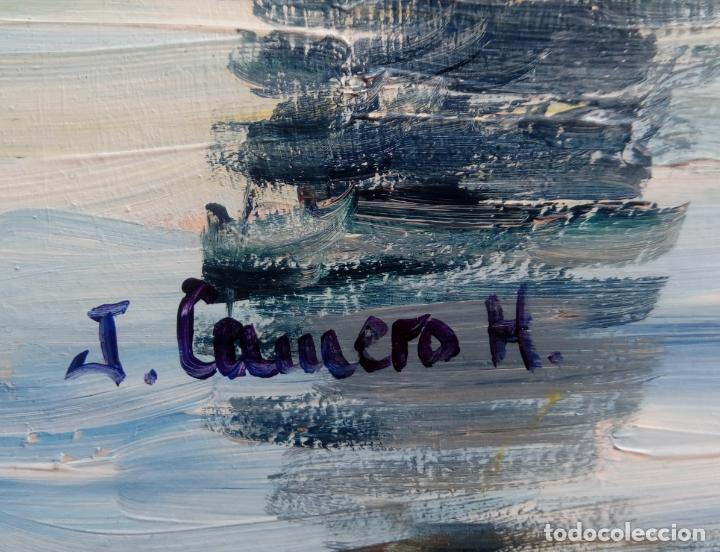 Arte: ÓLEO S/TABLA DE JOSÉ CAMERO HERNÁNDEZ,ENMARCADO. TÍTULO.- NOCTURNO MEZQUITA CÓRDOBA. 94X74 CMS - Foto 13 - 77541773