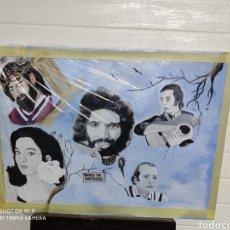Arte: PINTURA CAMARÓN, LOLA FLORES, BENI DE CÁDIZ, NAZARENO, PACO DE LUCÍA,.. Lote 220835926
