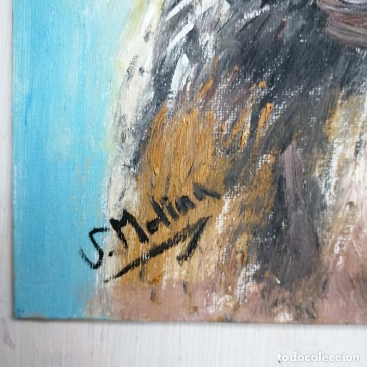 Arte: Cuadro, pintura óleo, gato arlequín. - Foto 5 - 220902172