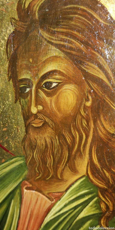 Arte: Antiguo icono pintado al óleo sobre tabla - Foto 2 - 220925017